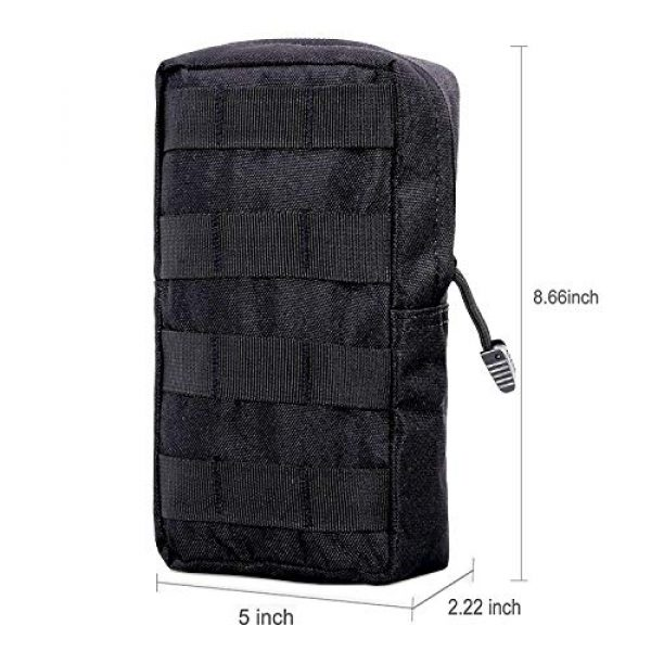 AOCKS Tactical Pouch 6 AOCKS Tactical Molle Pouch Tactical Compact Water-Resistant EDC Pouch for Tactical Backpack Assault Rig Vest
