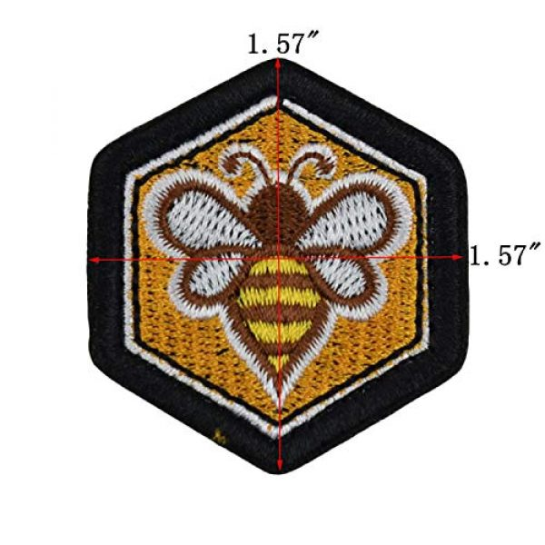 JFFCE Airsoft Morale Patch 2 Great Originality Morale Patch Full Embroidery Military Patch for Caps,Bags,Backpacks,Clothes,Tactical Vest,Military Uniforms (Bee)