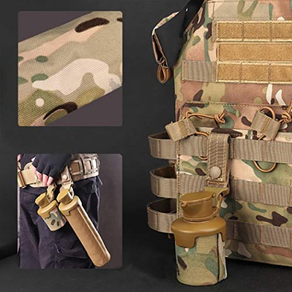Aoutacc Tactical Pouch 3 Aoutacc Tactical Molle BBS Storage Pouch, Foldable Airsoft Belt Pouch Bag Case for Hunting Slingshot Balls Pellets Airsoft BBS Bag