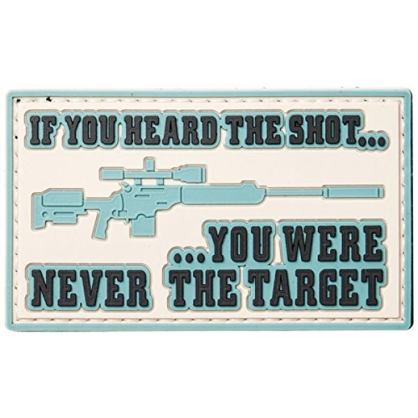 5ive Star Gear Airsoft Morale Patch 1 5ive Star Gear Heard The Shot Morale Patches, Multi-Color, One Size