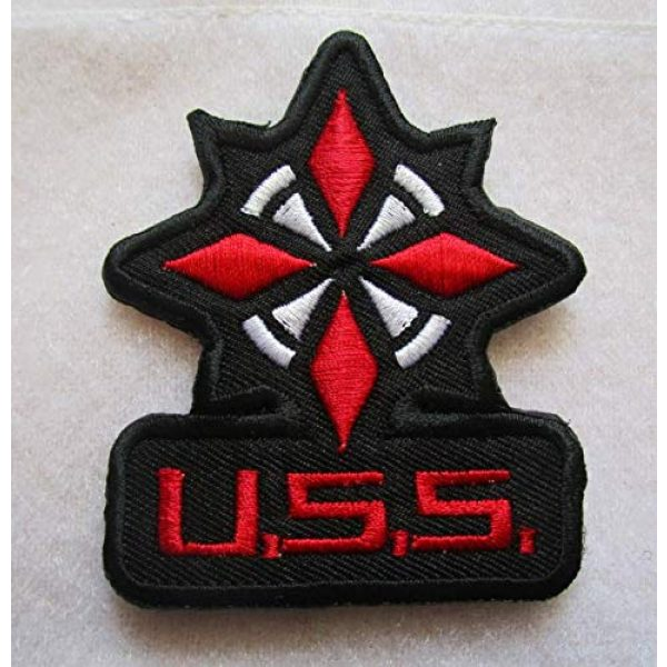 Embroidered Patch Airsoft Morale Patch 1 Resident Evil USS Umbrella 3D Tactical Patch Military Embroidered Morale Tags Badge Embroidered Patch DIY Applique Shoulder Patch Embroidery Gift Patch