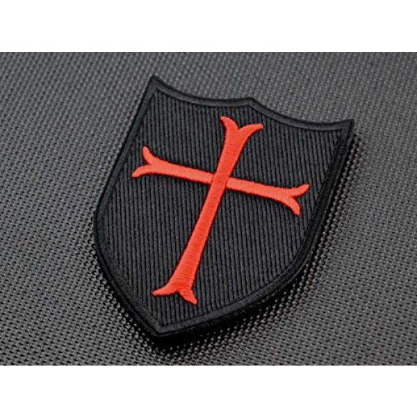 BritKitUSA Airsoft Morale Patch 1 BritKitUSA Premium Embroidered Crusader Cross Shield Navy Seal DEVGRU Morale Patch