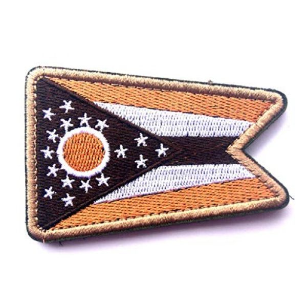 Tactical Embroidery Patch Airsoft Morale Patch 1 State Flag of Ohio Embroidery Patch Military Tactical Morale Patch Badges Emblem Applique Hook Patches for Clothes Backpack Accessories