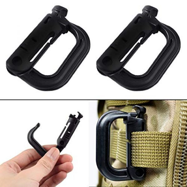 Aoutacc Tactical Pouch 5 Aoutacc Tactical Magazine Pouch Holder MOLLE Triple Open-Top Mag Pouch with D-Ring Grimlock Locking for M4 M16 AR-15 Magazines