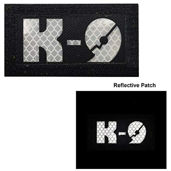 APBVIHL Airsoft Morale Patch 7 Glow Dark Police K9 Unit Service Dog Morale Tactical Infrared IR Reflective Patch - Hook Fastener Backing, 1.97 x 3.54 Inch