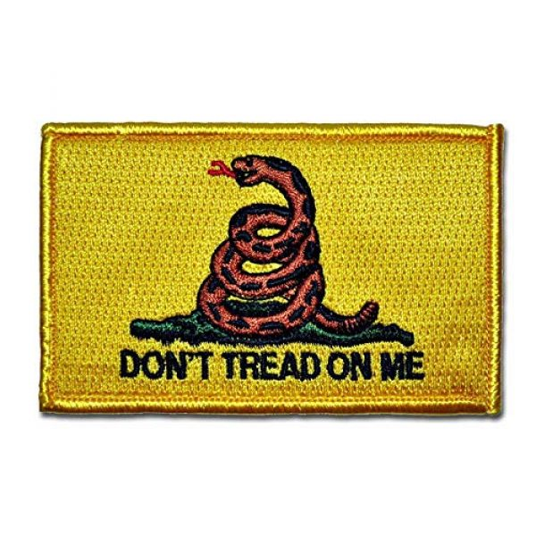 BASTION Airsoft Morale Patch 1 BASTION Morale Patches (Don't Tread On Me, Yellow/Red) | 3D Embroidered Patches with Hook & Loop Fastener Backing | Clean Stitching | Military Patches for Tactical Bag, Hats & Vest