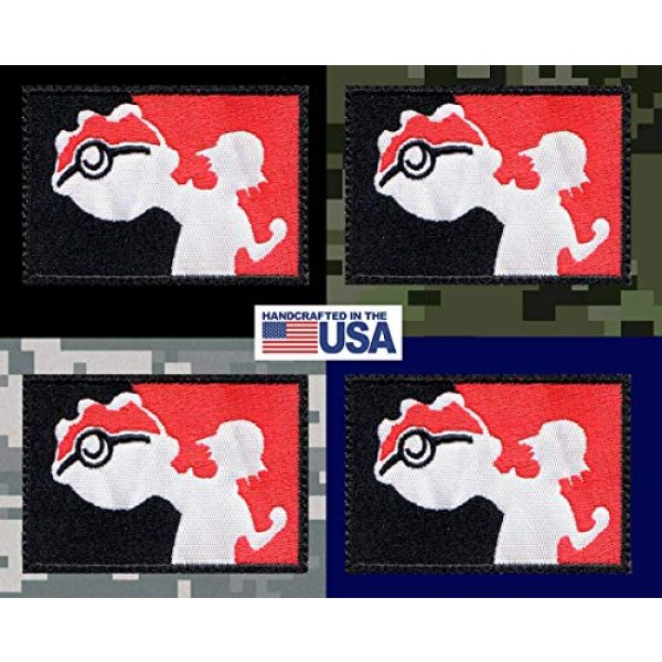 Tactical Patch Works Airsoft Morale Patch 3 Ash Pikachu Pokemon League Inspired Art Patch