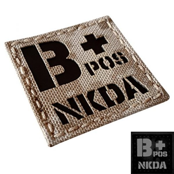 Tactical Freaky Airsoft Morale Patch 4 AOR1 Tan Digital Desert Infrared IR BPOS NKDA B+ Blood Type 2x2 Tactical Morale Fastener Patch