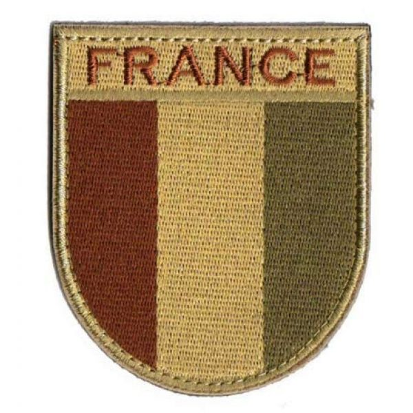 Tactical Embroidery Patch Airsoft Morale Patch 1 France Flag Embroidery Patch Military Tactical Morale Patch Badges Emblem Applique Hook Patches for Clothes Backpack Accessories