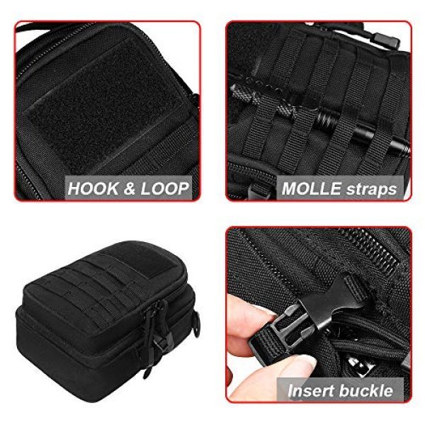 AMYIPO Tactical Pouch 5 AMYIPO Mini MOLLE Pouch Multi-Purpose Compact Tactical Small Waist Bags Utility Pouch Storage Pocket