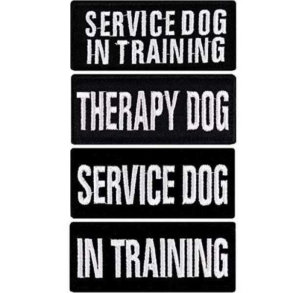 JumpyFire Airsoft Morale Patch 1 JumpyFire Dog Training Morale Patch, 4 PCS Dog Lover VelcroPatches for Backpack Hat Jacket Jeans Uniform