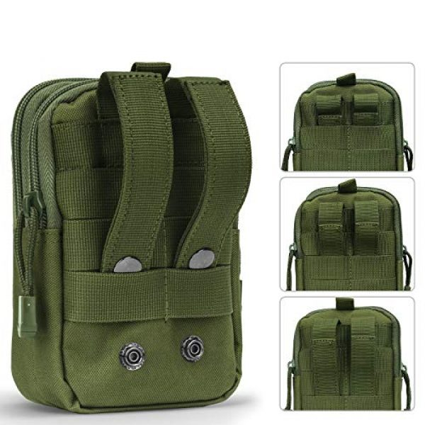Goodforalllilewen Tactical Pouch 7 Goodforalllilewen Tactical Waist Pack,Molle Pouch with Zipper,Pouch for Belt,Fanny Pack Pocket for Sports Travel Hiking Running Cycling Camping,Backpack Accessories Adjustable for Men and Women