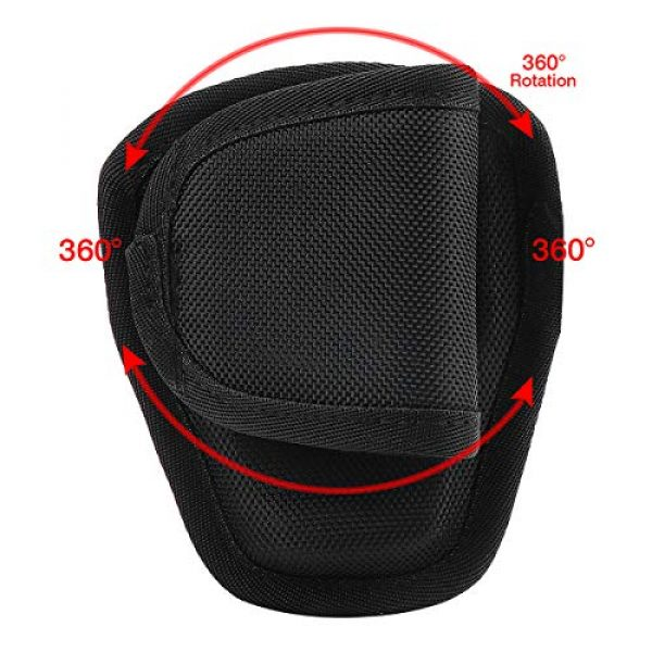 abcGoodefg Tactical Pouch 6 abcGoodefg Open Top Cuff Case Quick Release Cuff Holder Law Enforcement Nylon Handcuff Holder for Duty Belt Cuff Pouch with Belt Loop