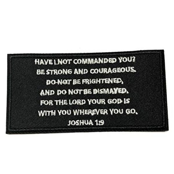 """Appalachian Spirit Airsoft Morale Patch 1 Joshua 1:9 Bible Verse 4"""" Embroidered Patch DIY Iron or Sew-on Decorative Vacation Travel Souvenir Applique Biker Emblem Badge Military Veteran Tactical Christian Religious"""