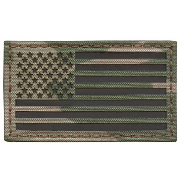 Tactical Freaky Airsoft Morale Patch 1 Multicam Infrared IR USA American Flag 3.5x2 IFF Tactical Morale Hook&Loop Patch