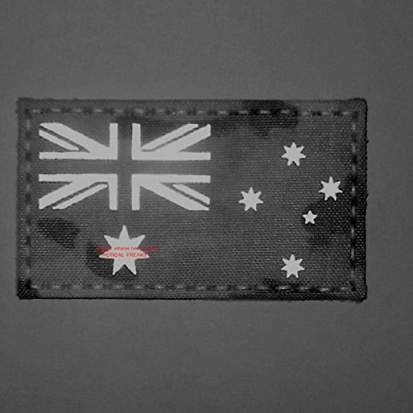 Tactical Freaky Airsoft Morale Patch 2 Big 3x5 Multicam Infrared IR Australia Flag IFF Tactical Morale Hook-and-Loop Patch
