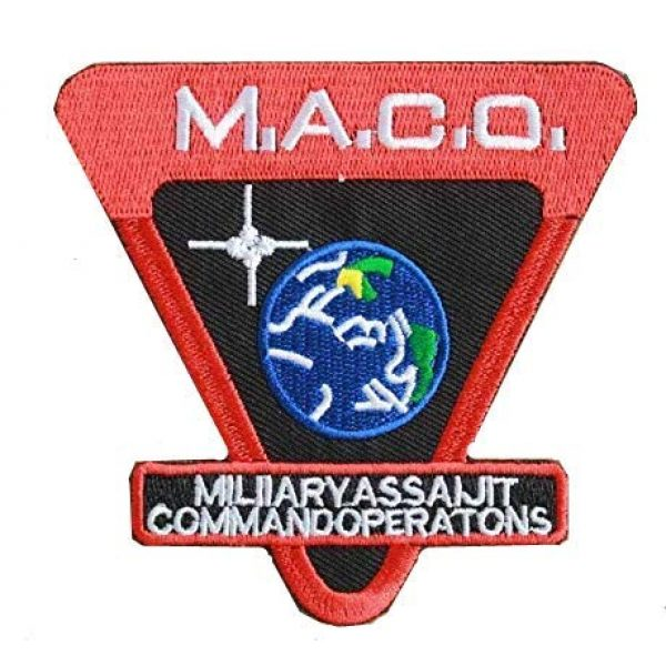 Embroidery Patch Airsoft Morale Patch 1 Star Trek Enterprise M.A.C.O Military Hook Loop Tactics Morale Embroidered Patch