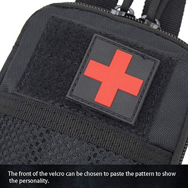 A0ZBZ Tactical Pouch 2 A0ZBZ Tactical Pouch Bag, Portable First Aid Pouch, Tactical Nylon Pouch Belt Bag for Outdoor Hiking Camping Trekking Hunting