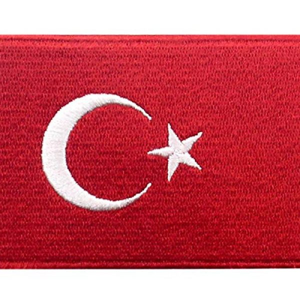 EmbTao Airsoft Morale Patch 2 EmbTao Turkey Flag Patch Embroidered National Morale Applique Iron On Sew On Turk Emblem