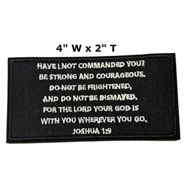 """Appalachian Spirit Airsoft Morale Patch 2 Joshua 1:9 Bible Verse 4"""" Embroidered Patch DIY Iron or Sew-on Decorative Vacation Travel Souvenir Applique Biker Emblem Badge Military Veteran Tactical Christian Religious"""