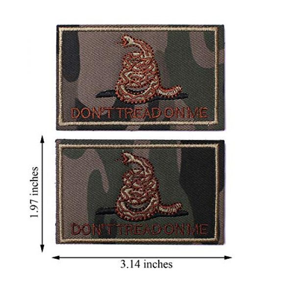 J.CARP Airsoft Morale Patch 4 2 Pieces Don't Tread on Me Tactical Patch Military Morale Patch Ruins of The Green