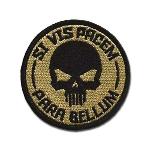BASTION Airsoft Morale Patch 1 BASTION Morale Patches (Si Vis Pacem, ACU) | 3D Embroidered Patches with Hook & Loop Fastener Backing | Well-Made Clean Stitching | Military Patches Ideal for Tactical Bag, Hats & Vest