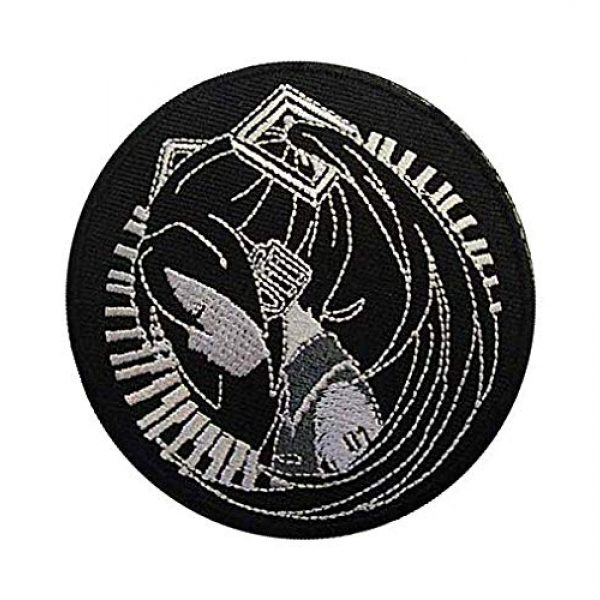 Embroidery Patch Airsoft Morale Patch 2 Hatsune Miku Patch Military Hook Loop Tactics Morale Embroidered Patch
