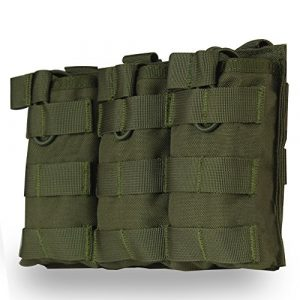 ZTBF Tactical Pouch 1 ZTBF Triple Mag Pouch for M4 M16 AR15 Mag Holder Open-Top Military Airsoft Magazine Pouch Tactical Backpack Vest Molle Accessories