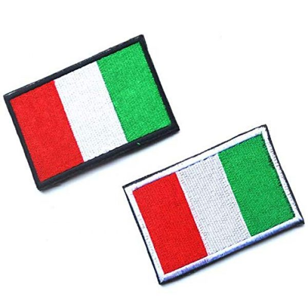Tactical Embroidery Patch Airsoft Morale Patch 1 2pcs Italy Flag Embroidery Patch Military Tactical Morale Patch Badges Emblem Applique Hook Patches for Clothes Backpack Accessories