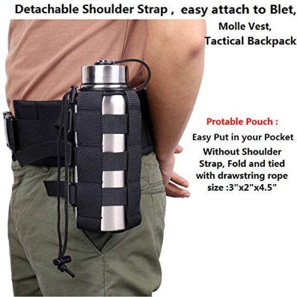ATBP Tactical Pouch 3 ATBP Tactical Water Bottle Pouch Holder Military Hydration Carrier Waist Fanny Pack for Molle Backpack Vest Bike Bottle Cage Bag