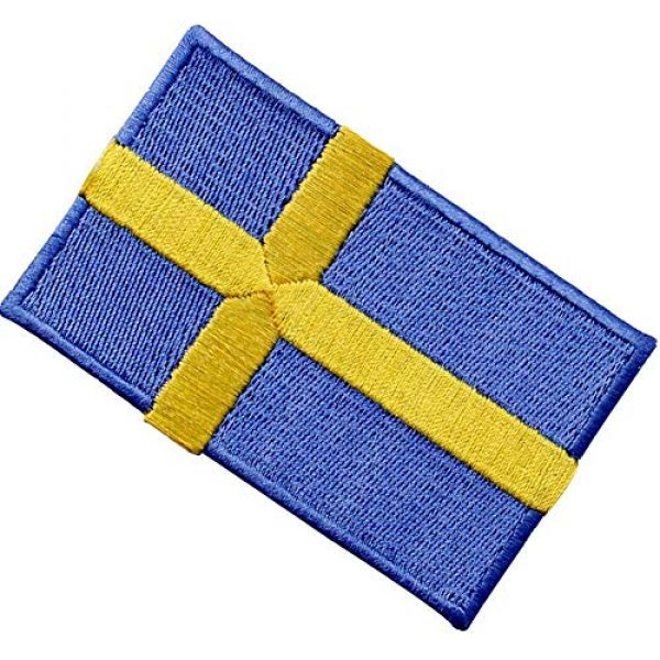 EmbTao Airsoft Morale Patch 3 Sweden Flag Patch Embroidered Swedish Applique Iron On Sew On National Emblem