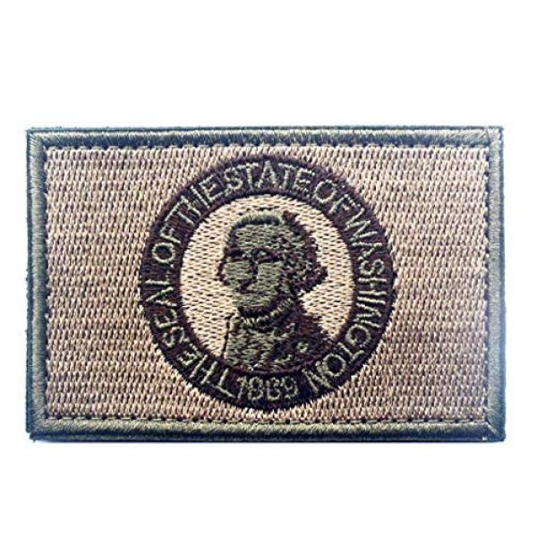 Tactical Embroidery Patch Airsoft Morale Patch 1 State Flag of Washington Embroidery Patch Military Tactical Morale Patch Badges Emblem Applique Hook Patches for Clothes Backpack Accessories