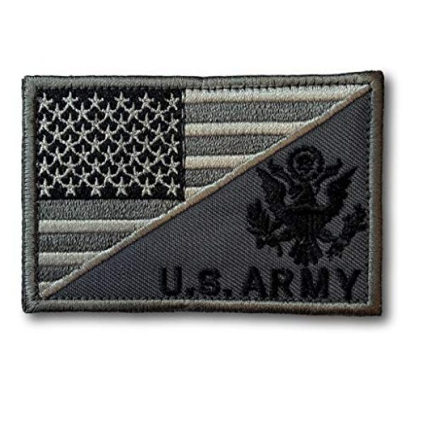 Backwoods Barnaby Airsoft Morale Patch 1 Backwoods Barnaby U.S. Army/American Flag Military Morale Patch with Hook & Loop