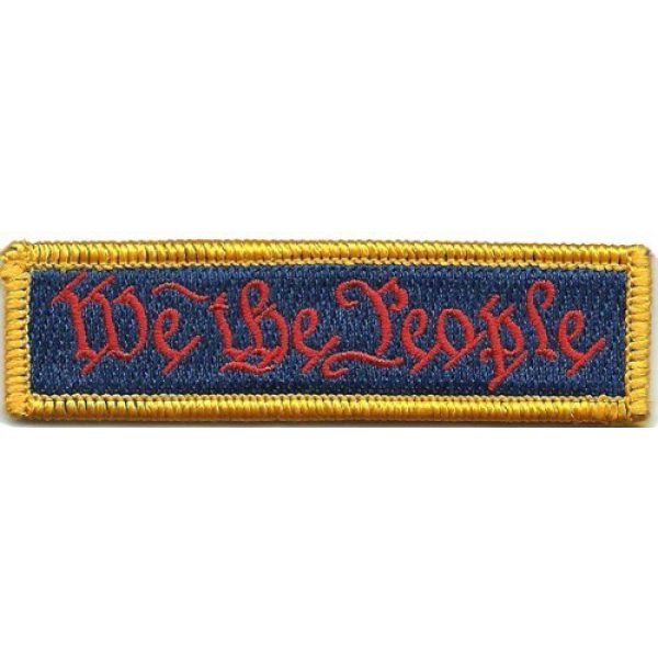 Gadsden and Culpeper Airsoft Morale Patch 1 We The People - Tactical Morale Patch - Red White & Blue