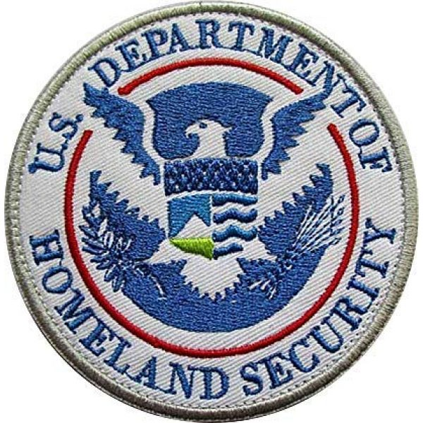 Embroidery Patch Airsoft Morale Patch 1 DEPT of Homeland Security Military Hook Loop Tactics Morale Embroidered Patch