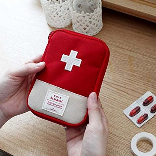 bjlongyi Tactical Pouch 2 bjlongyi Portable First Aid Bag,Outdoor Camping Home Survival First Aid Kit Bag Case Pill Pouch