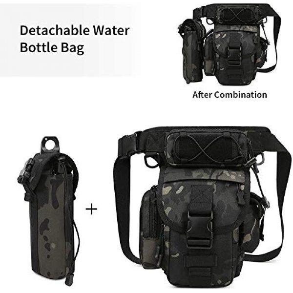 ACOMOO Tactical Pouch 5 ACOMOO Tactical Drop Leg Waist Bag Mens Outdoor Sport Thigh Hip Pack Utility Pouch Camo Black