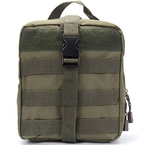 ASEEBY Tactical Pouch 1 ASEEBY First Aid Kit Utility MOLLE Pouch Bag Rip-Away Tactical Bag Compact Accessory Tool Carrier Pocket for Military Advanture Outdoor Camping