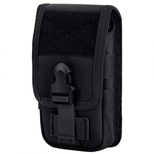 IronSeals Tactical Pouch 1 IronSeals Tactical Phone Holster Pouch Compact EDC Utility Gadget Molle Belt Waist Bag Phone Holster, Size L