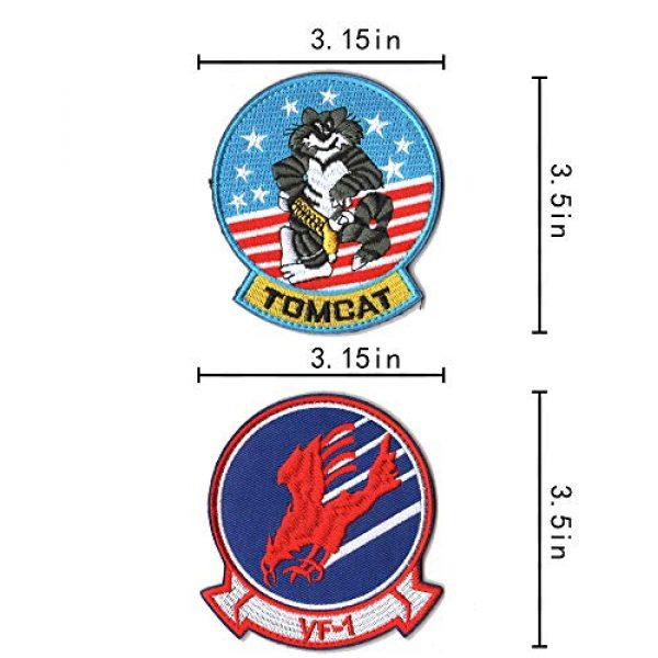 WZT Airsoft Morale Patch 5 WZT 11 Pieces TOP Gun Tactical Morale Military Patch United States Navy Fighter Weapons School, American Flag, CV-61 USS Ranger 100 Centurion, Tom Cat, Pete Mitchell Maverick, VX-31, VF-1 Embroidered
