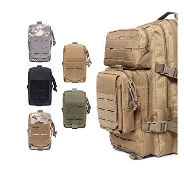 Azarxis Tactical Pouch 7 Azarxis Tactical EDC Pouch, Molle Utility Pouches Gadget Organizer Phone Holder Waist Pack IFAK Bag Smartphone Pouch Tool Holster Pocket