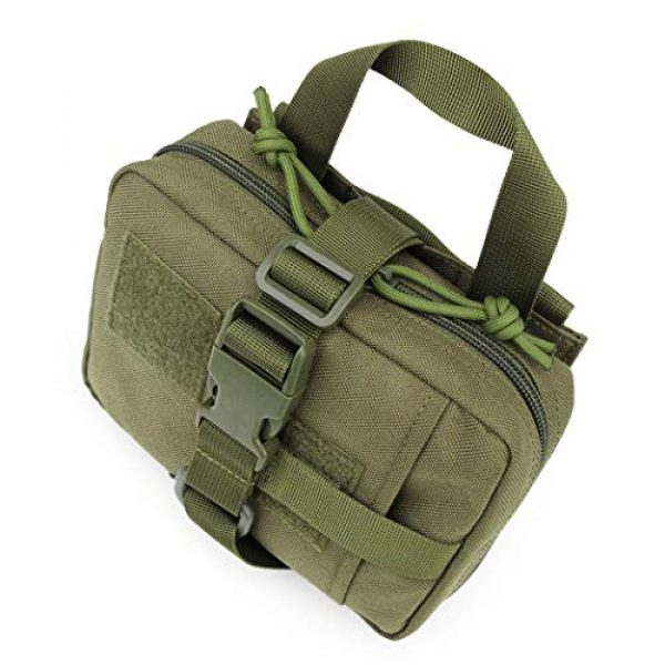 Aoutacc Tactical Pouch 5 Aoutacc Tactical MOLLE Rip Away EMT Medical Pouch, 1000D Nylon Empty IFAK Medical Kit Bag EDC EMT Military First Aid Bag Utility Pouch (Bag Only)