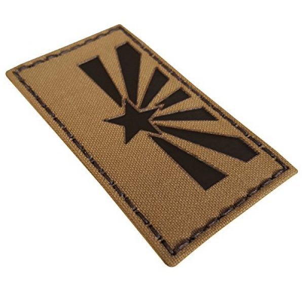Tactical Freaky Airsoft Morale Patch 4 Coyote Brown Tan Infrared IR Arizona Flag 3.5x2 IFF Tactical Morale Fastener Patch