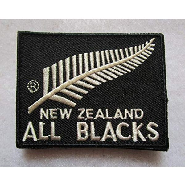 Embroidered Patch Airsoft Morale Patch 1 New Zealand National Rugby Union Team All Blacks 3D Tactical Patch Military Embroidered Morale Tags Badge Embroidered Patch DIY Applique Shoulder Patch Embroidery Gift Patch