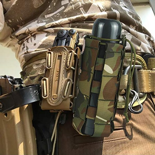 Aoutacc Tactical Pouch 5 2 Pack Molle Tactical Water Bottle Pouch Adjustable Straps Outdoor Sports Kettle Carrier Holder for Molle Systems