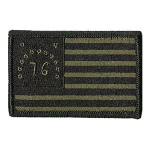 """Gadsden and Culpeper Airsoft Morale Patch 1 Bennington 1776 Tactical Flag Patch - 2"""" x 3"""""""