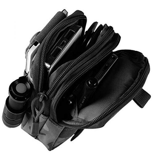 Bonlting Tactical Pouch 4 Outdoor Waist Bag Portable Waterproof Compact Cell Phone Carrying Case Holster Belt Waist Pouch with Zipper(Black)