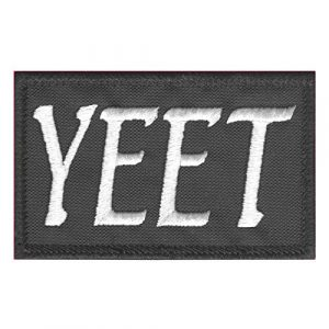 LEGEEON Airsoft Morale Patch 1 LEGEEON Yeet Funny 2x3.25 Tactical Morale Army Fastener Patch