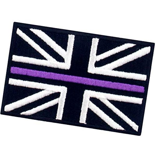 EmbTao Airsoft Morale Patch 4 EmbTao Tactical Thin Purple Line UK Flag British Union Jack Patch Embroidered Morale Applique Iron On Sew On Emblem