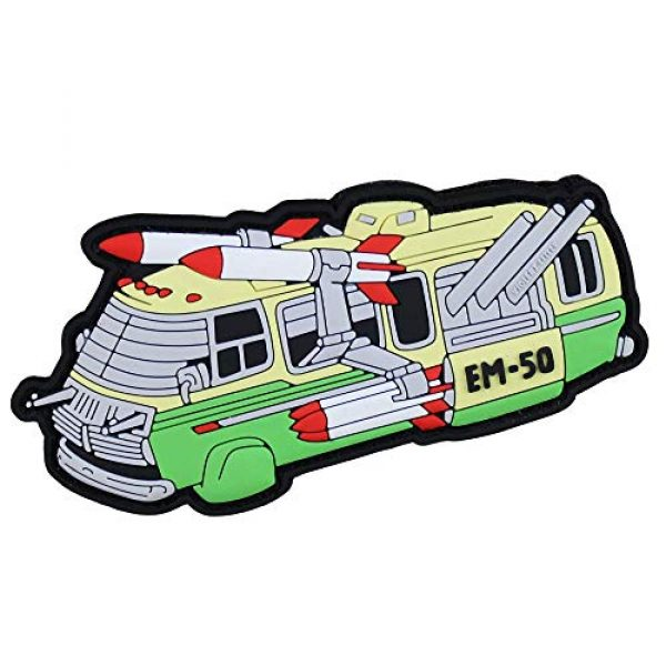 Violent Little Machine Shop Airsoft Morale Patch 1 'Stripes EM-50' Morale Patch by Violent Little Machine Shop - Velcro Backed PVC
